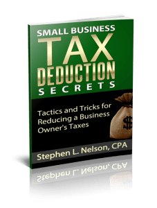 Small Business Tax Deduction Secrets