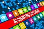 Accounting software concept image with technology icons
