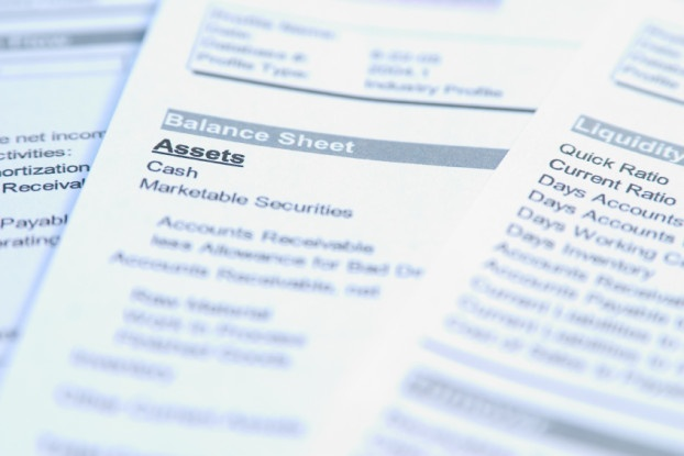 Picture of balance sheet.