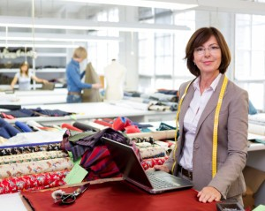 Picture of a small business woman in her factory.