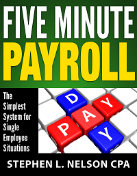 Cover image of five minute payroll ebook