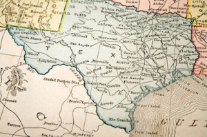 Picture of map showing state of Texas