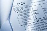 Picture of top corner of a corporate tax return