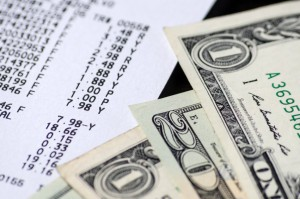 picture of money and adding machine tape
