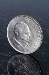 Picture of coin showing Winston Churchill