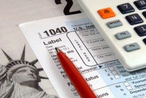 Picture of 1040 tax return