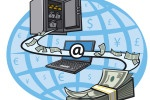 picture of money transferring between banks