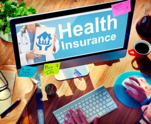 Health insurance search on a computer