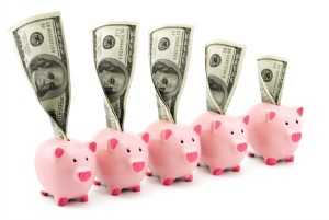 Picture of piggy banks