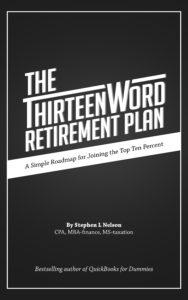 Picture of Thirteen Word Retirement Plan book