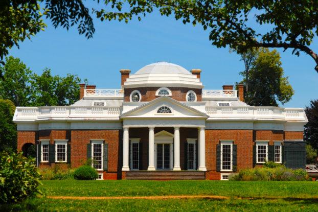 picture of Monticello, Thomas Jefferson's home in Virgnia