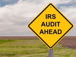 Picture for IRS Audit Prevention blog post showing an IRS audit ahead road sign