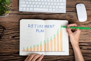 "Pictures showing retirement plan chart for ""Sec. 199A changes retirement planning for small business owners"" blog post."