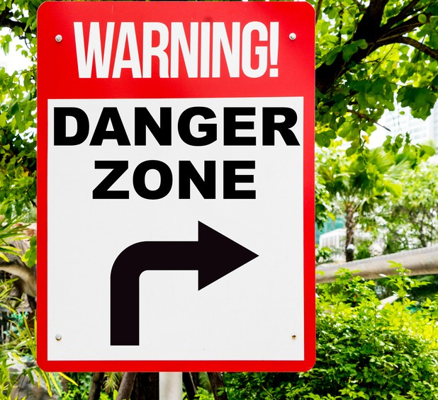 Picture of danger zone sign